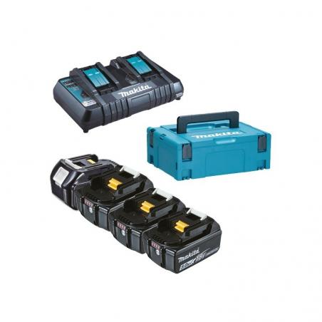Kit Energy Makita: 4 x batteria 18 V 5,0 Ah + caricabatterie doppio rapido