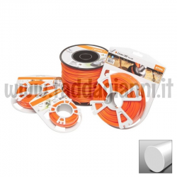 Bobina di filo in nylon Stihl arancio - Ø 2.4 mm tondo