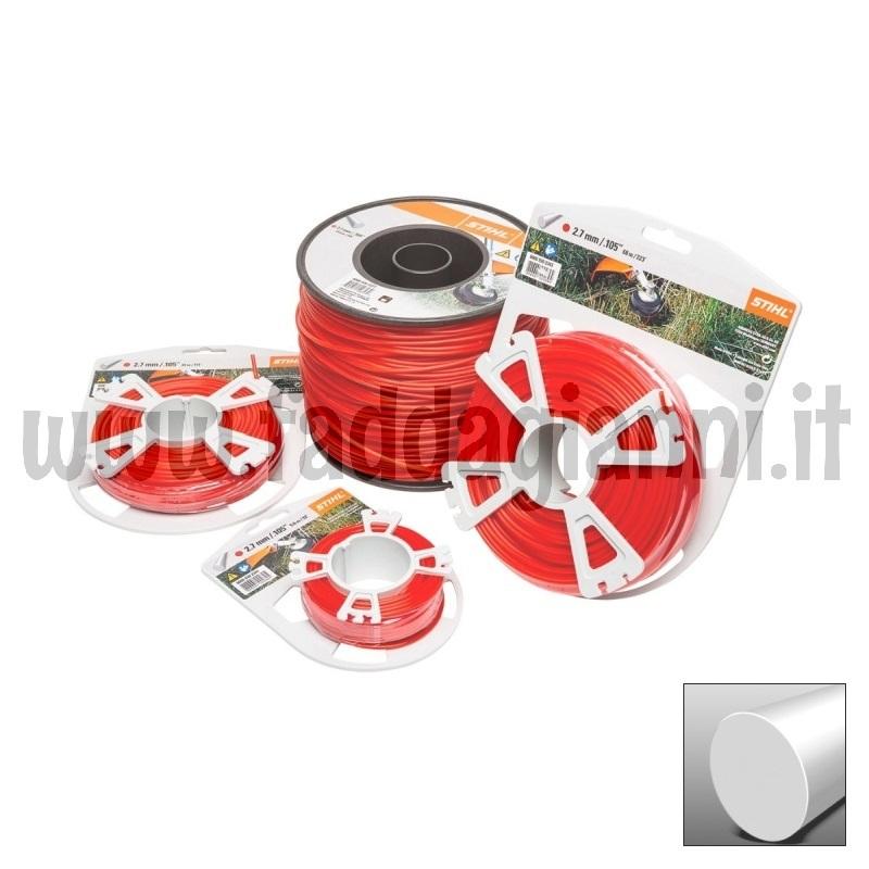 Bobina di filo in nylon Stihl rosso - Ø 2,7 mm tondo