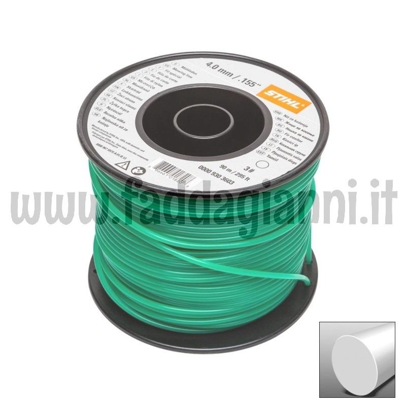 Bobina di filo in nylon Stihl verde scuro- Ø 4,0 mm tondo