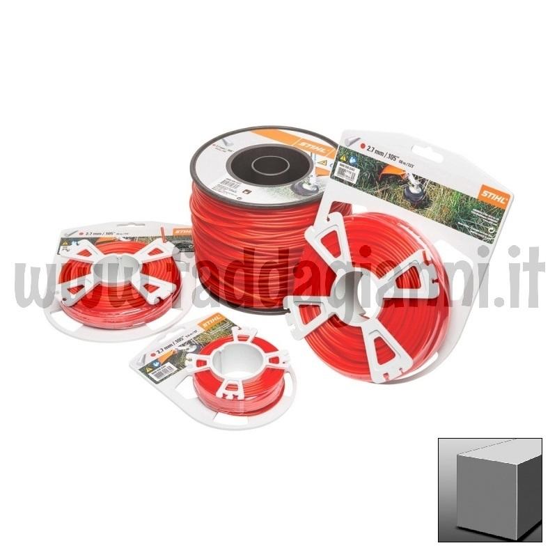 Bobina di filo in nylon Stihl rosso - Ø 2,7 mm quadro
