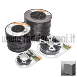Bobina di filo in nylon Stihl nero - Ø 3,3 mm quadro