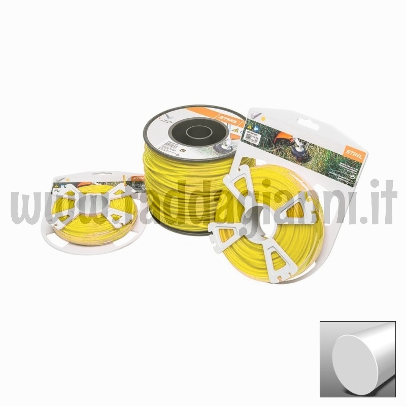 Bobina di filo in nylon Stihl giallo - Ø 3,0 mm tondo