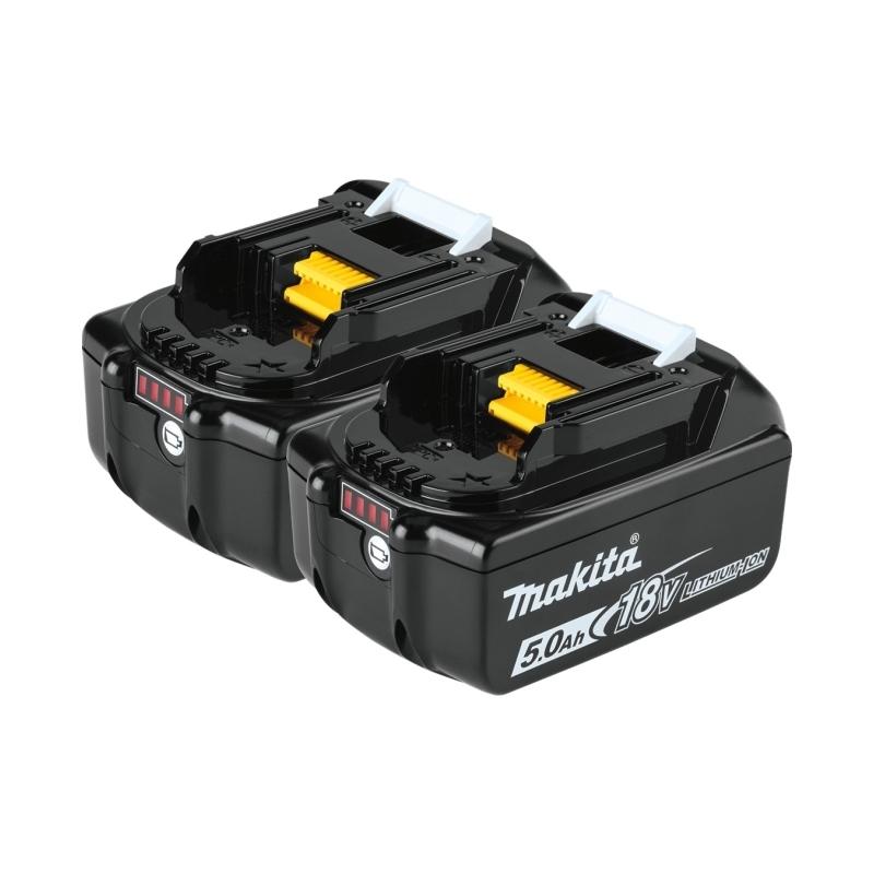 Kit di batterie Makita 2xBL1850B da 18V 5,0 Ah