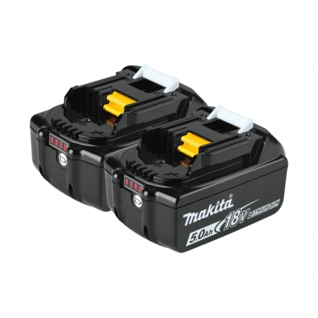Kit di batterie Makita 2xBL1850B da 18V 5,0 Ah